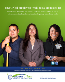 Print Ad - AMERIND Benefits (Photo Credit: Ryan Redcorn, Buffalo Nickle Creative)