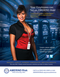 Print Ad - AMERIND Risk (Photo Credit: Ryan Redcorn, Buffalo Nickle Creative)