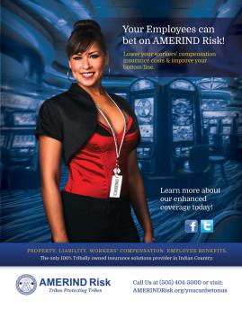 Print Ad - AMERIND Risk (Photo Credit: Ryan Redcorn, Buffalo Nickle Creative)