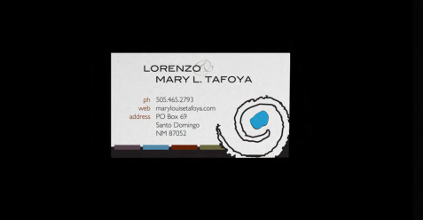 Business Card - Lorenzo & Mary Tafoya 2011