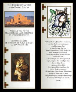 Print Marketing Piece - St. Kateri Church 2013