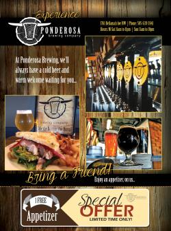Print Ad - Ponderosa Brewing Company Albuquerque, NM 2016