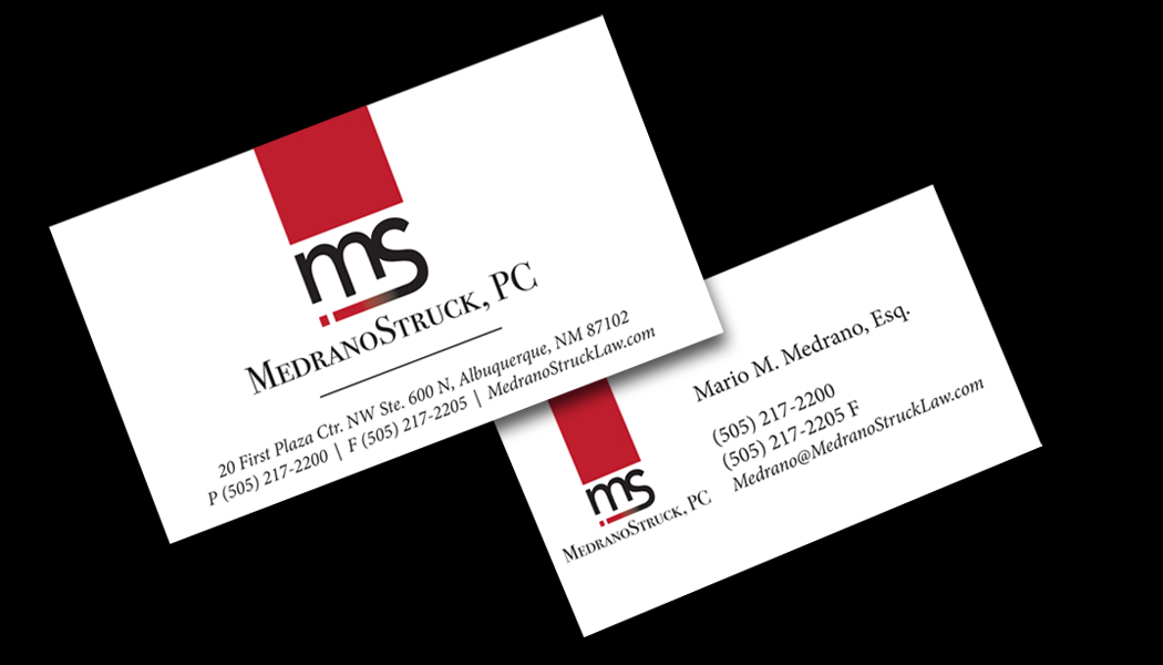 Business Card - MedranoStruck, PC (Law Firm)